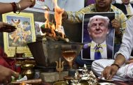 Indian People are performing rituals to support Donald Trump