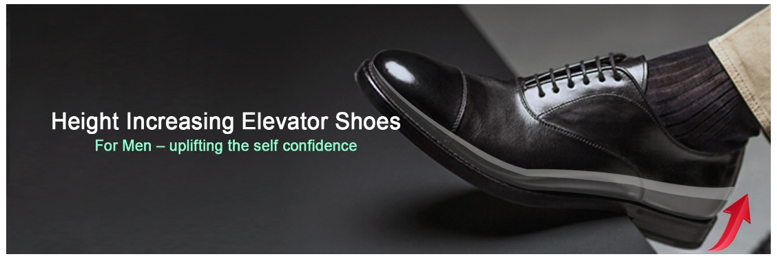 Men's Height Increase Elevator Shoes Is An Easy Way To Look Tall