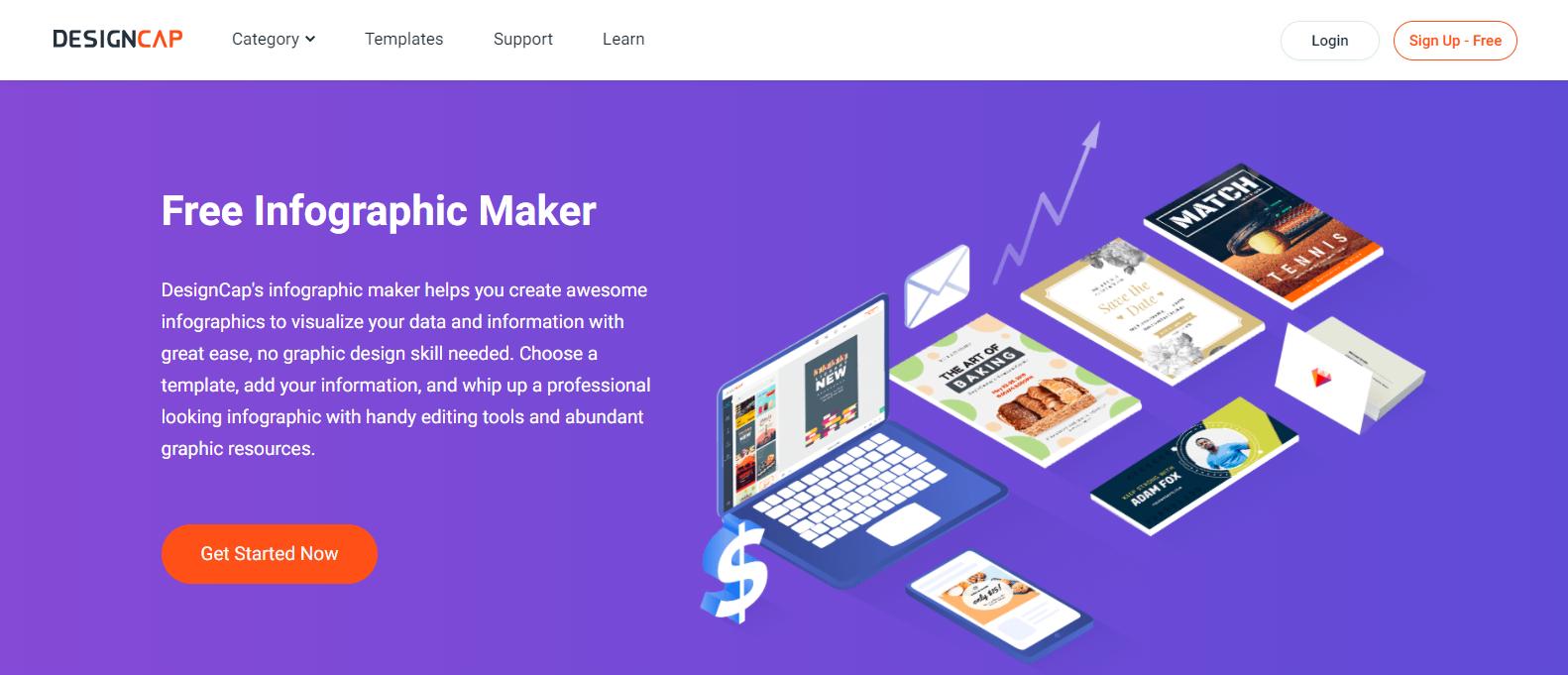 DesignCap - Best Infographic Design Website Online