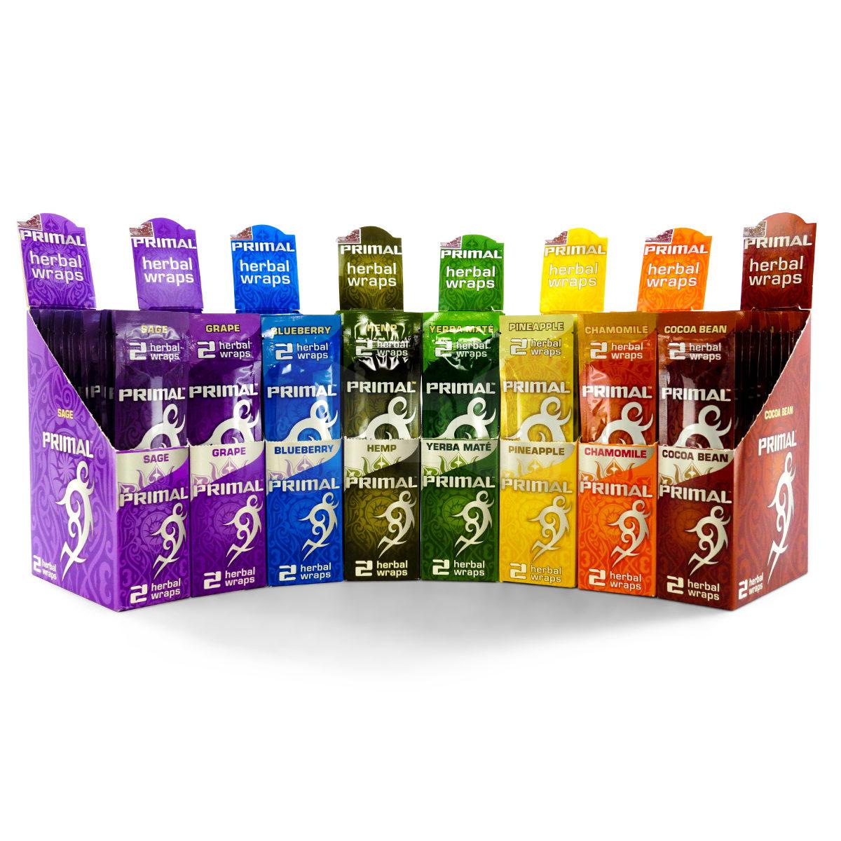 Primal Herbal Wrap is a tobacco & nicotine-free herbal wrap!
