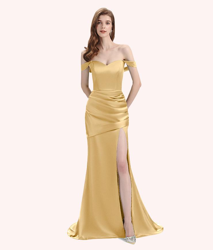 Looking for Gold Bridesmaid Dresses for Your Plus-Size Figure: 3 Things to Consider